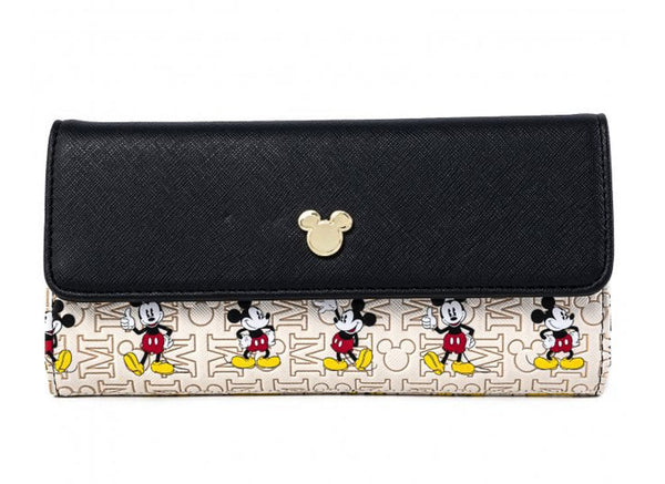 Loungefly Disney Mickey Mouse Hardware Flap Faux Leather Wallet