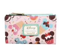 Loungefly Disney Mickey Mouse Ice Cream Sandwich Crossbody Bag and Wallet Set