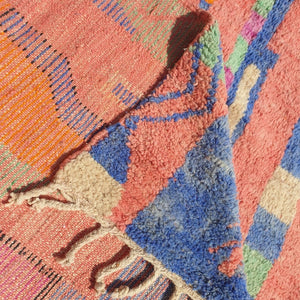 BELBULA | 10x6 Ft | 3x2 m | Moroccan Colorful Rug | 100% wool handmade - OunizZ