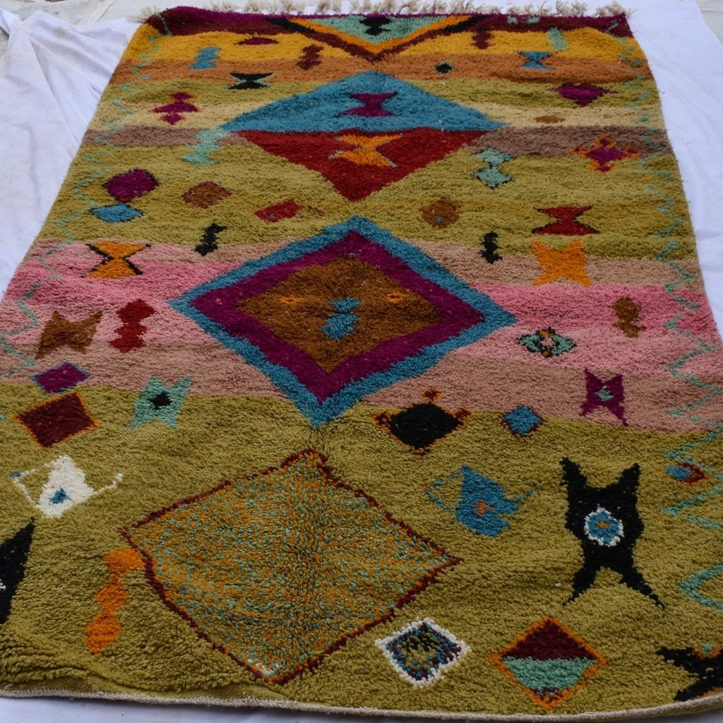 KERJAM | 8'86x5'15 Ft | 270x157 cm | Moroccan Colorful Rug | 100% wool handmade - OunizZ