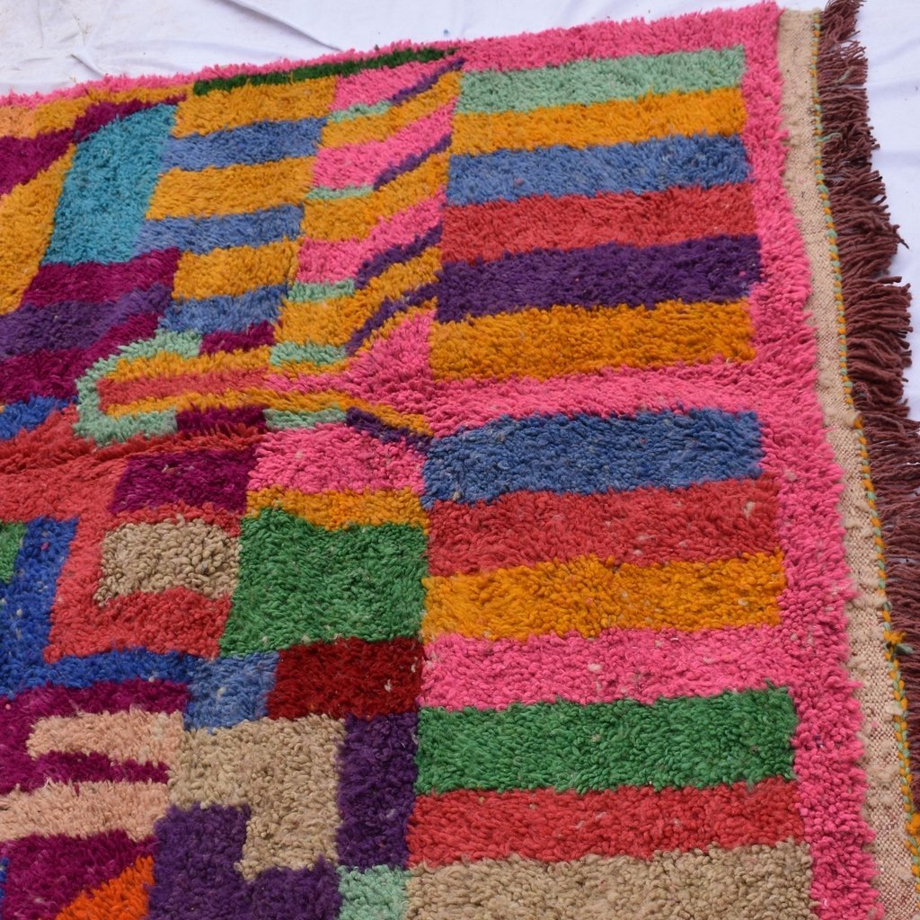 MORSLE | 8'5x5 Ft | 260x156 cm | Moroccan Colorful Rug | 100% wool handmade - OunizZ