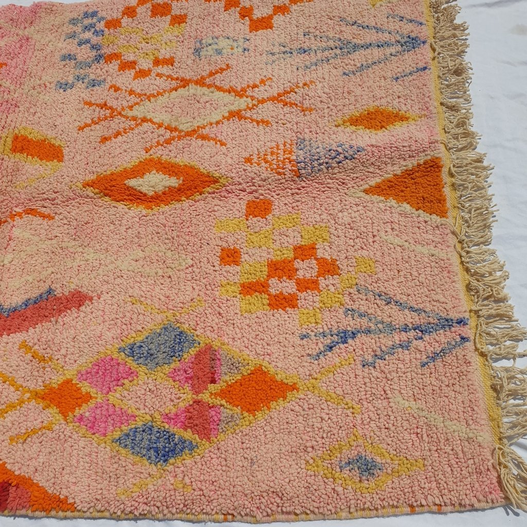MRAR | 8x5 Ft | 2,5x1,5 m | Moroccan Colorful Rug | 100% wool handmade - OunizZ
