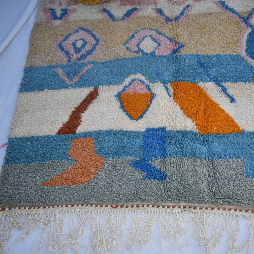 SIMIDELINA | 8x5 Ft | 2,5x1,5 m | Moroccan Colorful Rug | 100% wool handmade - OunizZ