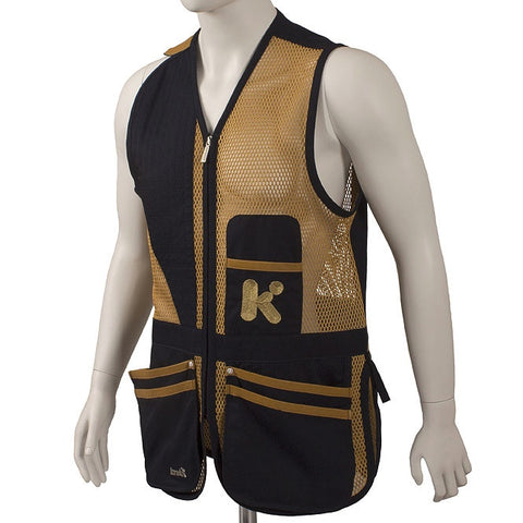 "Krieghoff ""Castellani"" Shooting Vest (Navy & Gold) - MacWet Gloves"
