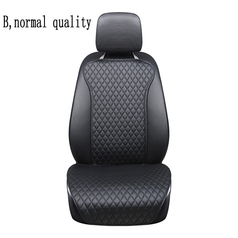 2019 not moves single car seat cushions,universal pu leather non slide seats cover fits for most cars water proof E1 X36