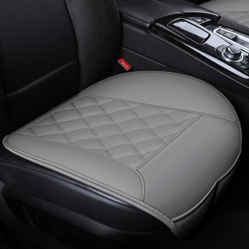 Waterproof Leather Car Seat Cover Protector Mat Universal Front Rear With Backret Breathable Van Auto Seat Cushion Protector Pad