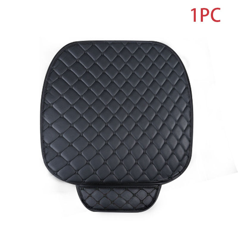 Leather Car Seat Covers Set Universal Car Seat Protector Auto Seats Cushion Mats Cover Pad Carpets Diamond Sewing Accessories