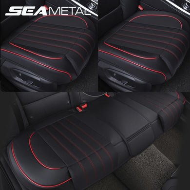Leather Car Seat Covers Interior Four Seasons Seat Cover Automobiles Seat-Cover Protector Mat Universal Seat Cushion Accessories
