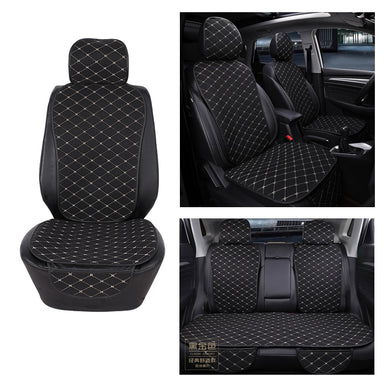 Car Seat Cover Protector Front Rear Back Seat Cushion Pad Mat with Backrest for Auto Automotive Interior Truck Suv or Van