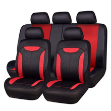 Load image into Gallery viewer, Car-pass Universal Car Seat Covers Gray Blue Red With imitation leather Covers With Three Zipper