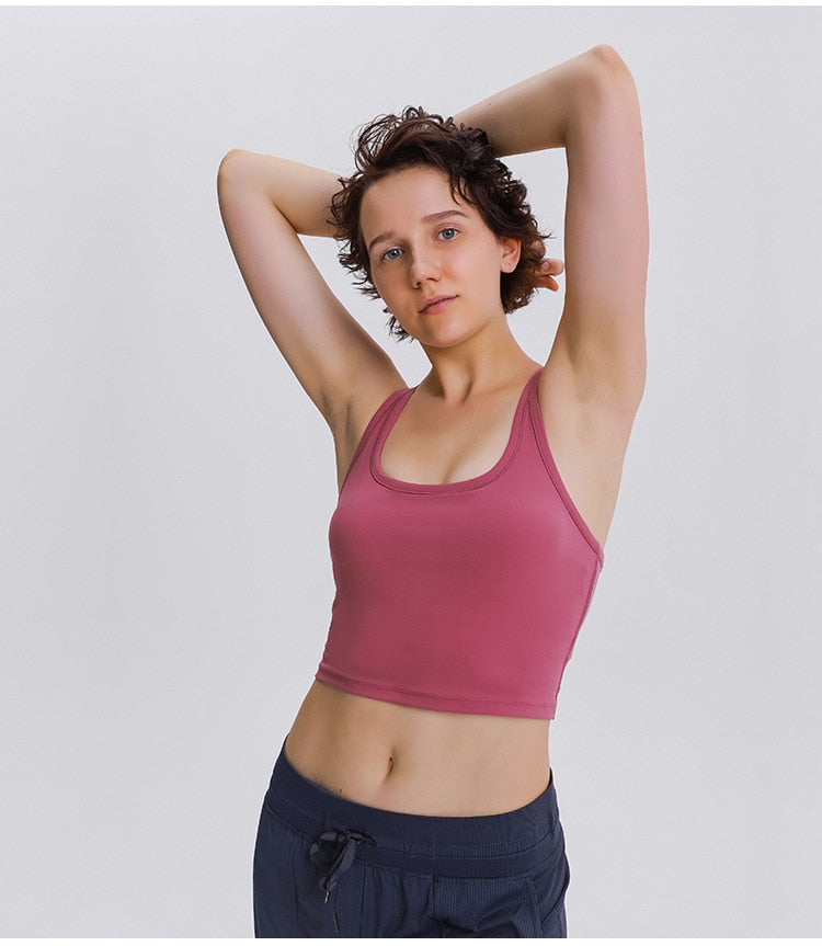 Strada™ Racerback Cropped Sports Bra