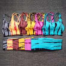 Load image into Gallery viewer, Strada™ Tiger Striped Yoga Set