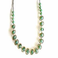 Beaded Oval Necklace