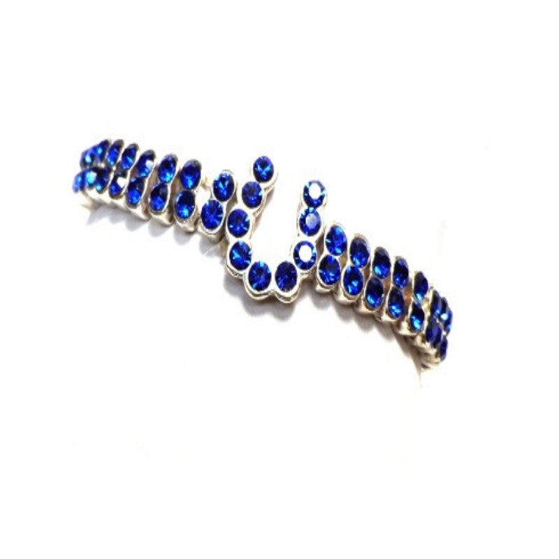 Two Row Crystal Horseshoe Bracelet