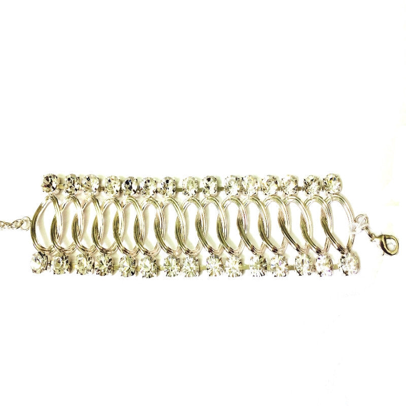 Chain Bracelet with Crystal Edges