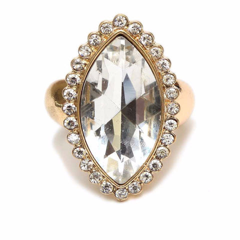 Marquis Crystal Stretch Ring