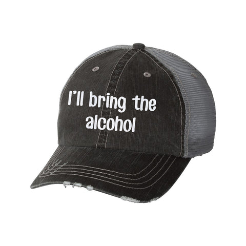 I'll Bring the Alcohol Distressed Ladies Trucker Hat