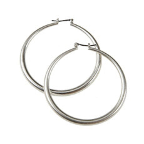 Worn Metal Hoop Earrings