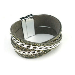Crystal & Chain Magnetic Bracelet