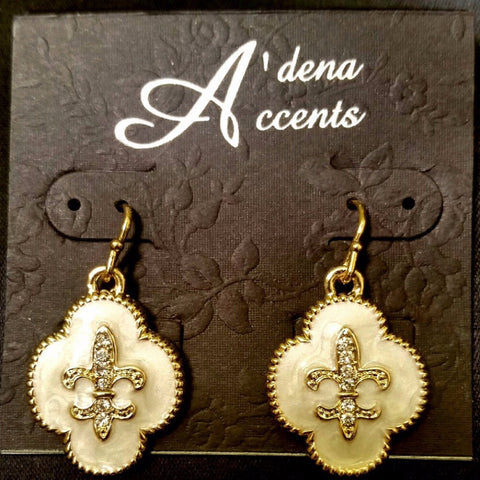 MOP Fleur De Lis Earrings