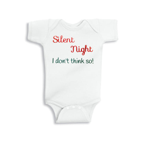Silent Night Glitter Onesie