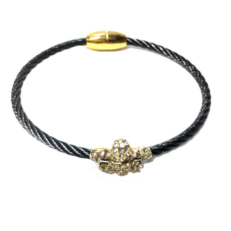 Small Fleur De Lis Bangle