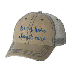 Barn Hair Don't Care Distressed Ladies Trucker Hat