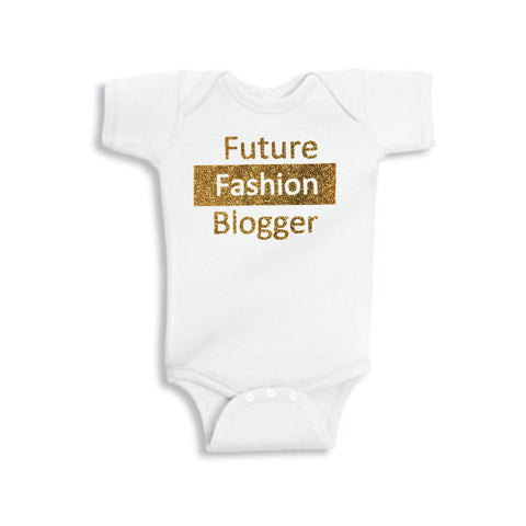 Future Fashion Blogger Glitter Onesie