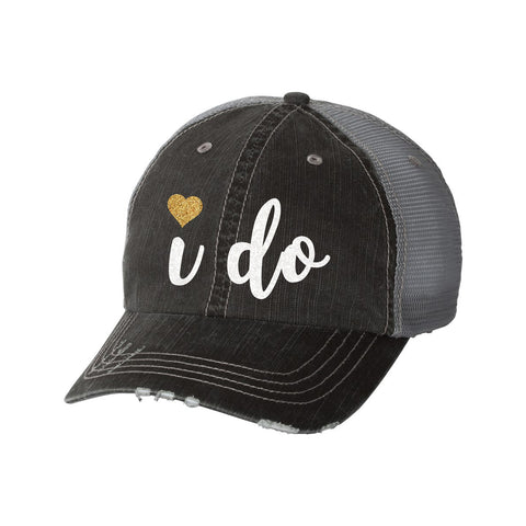 I Do Distressed Ladies Trucker Hat