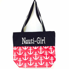 Nauti-Girl Glitter Beach Bag