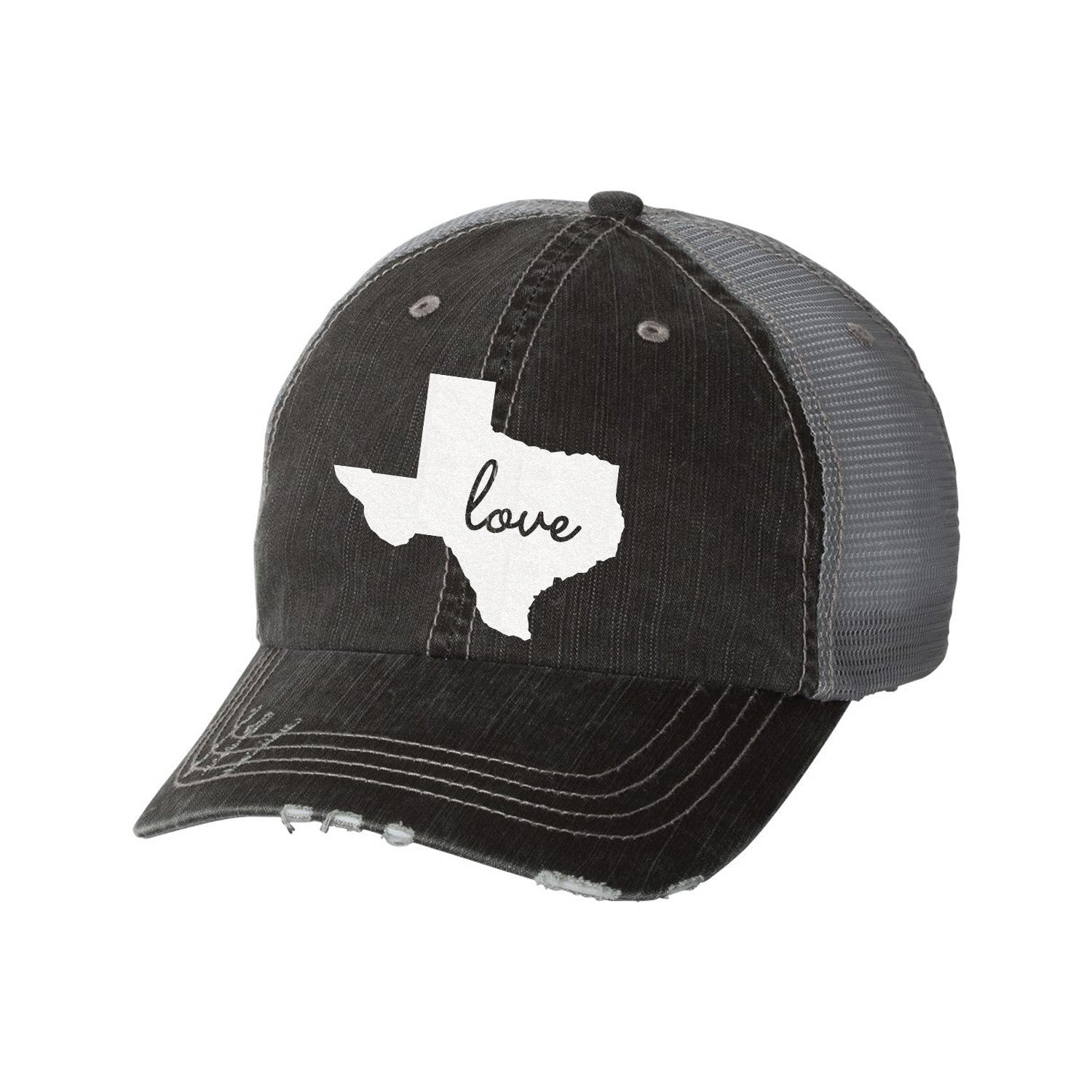 State Distressed Ladies Trucker Hat