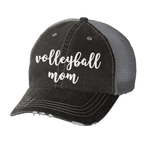 Volleyball Mom Distressed Ladies Trucker Hat