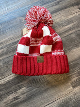 Load image into Gallery viewer, C.C Red/White Beanie Hat