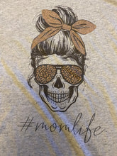 Load image into Gallery viewer, #MomLife Skull Tee