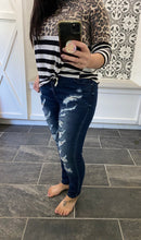 Load image into Gallery viewer, Kancan Distressed with Leopard Skinny Jeans