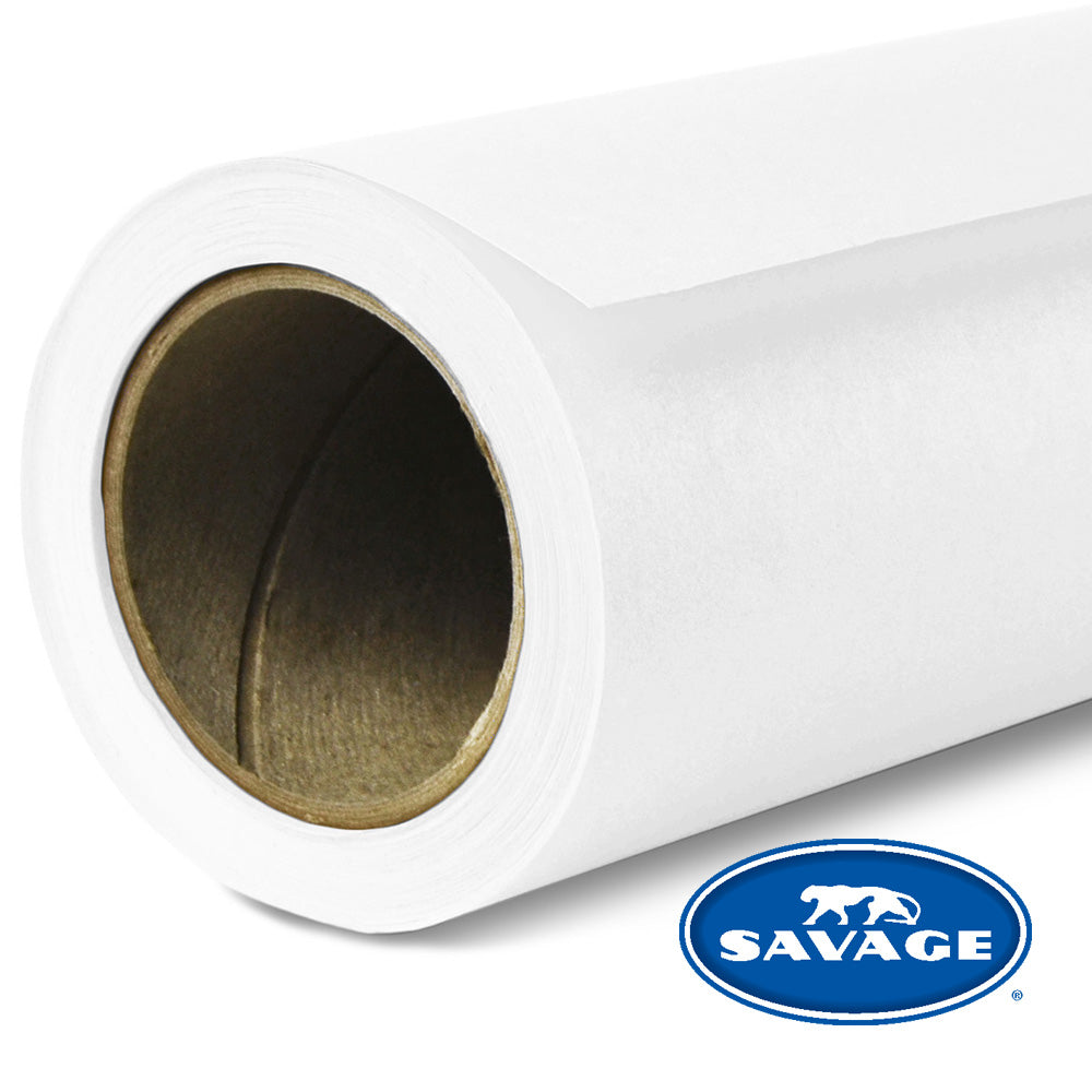 Savage Seamless Background Paper - #66 Pure White - 53