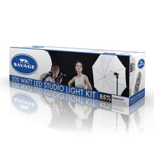 Load image into Gallery viewer, Savage 500 Watt LED Studio Light Kit
