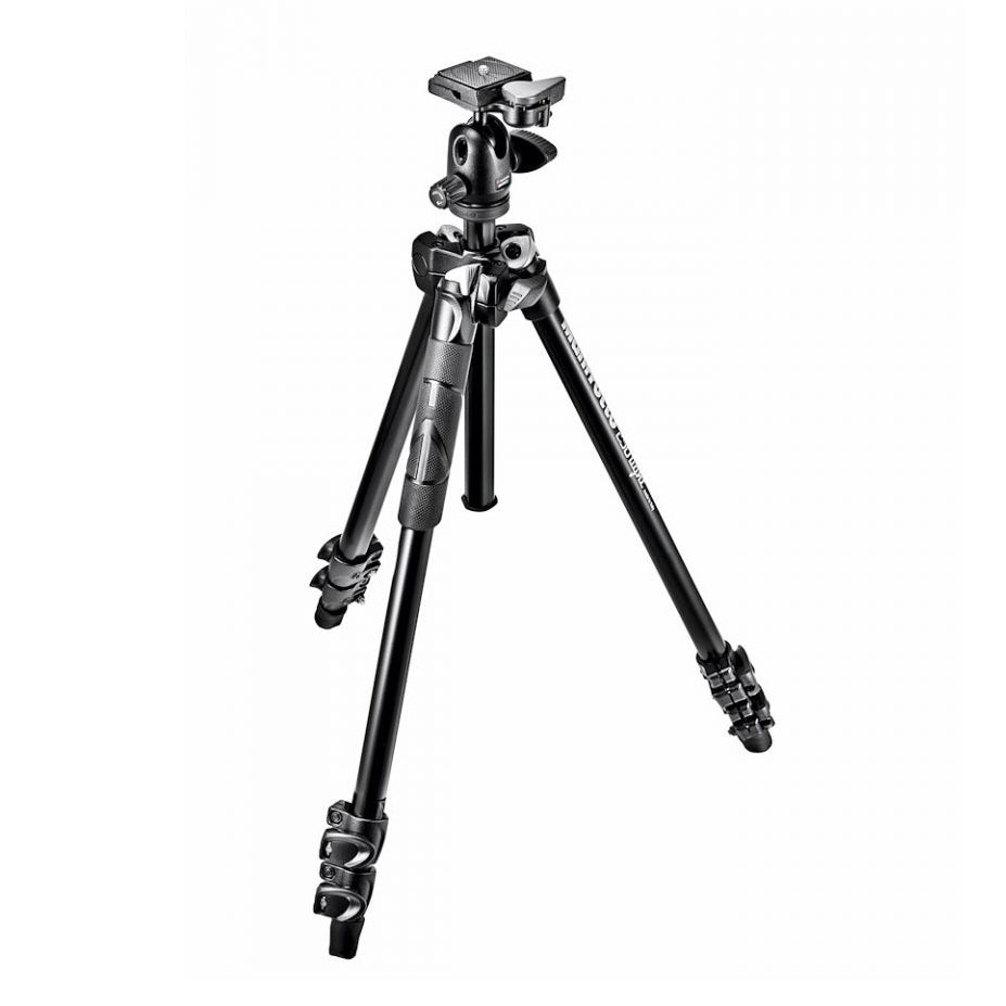 Manfrotto 290 Light Aluminum Tripod With Ball Head - MK290LTA3-BHUS 290