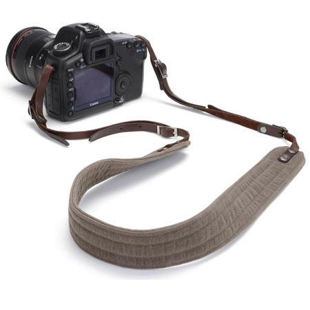 ONA Presidio Camera Strap - Smoke - Waxed Canvas / Leather
