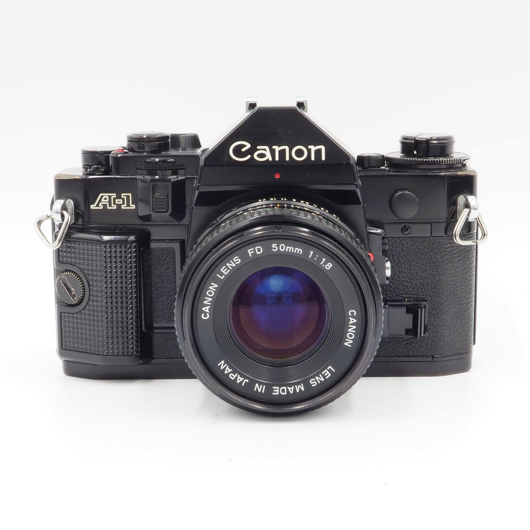 Canon A-1 with 50mm f/1.8 FD Lens - USED