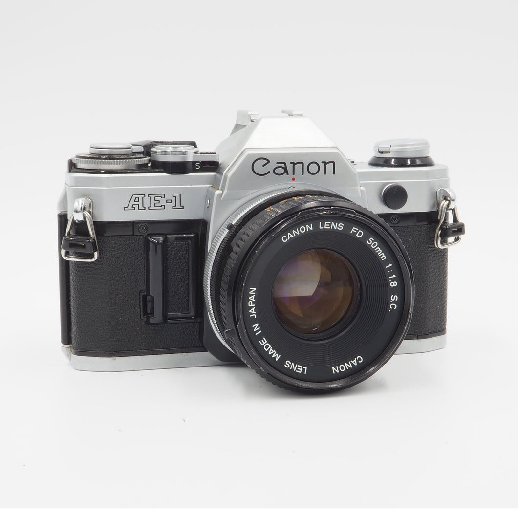 Canon AE-1 with 50mm f/1.8 FD S.C. Lens - USED