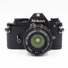 Load image into Gallery viewer, Nikon EM with Kalimar 28mm f/2.8 Lens - USED