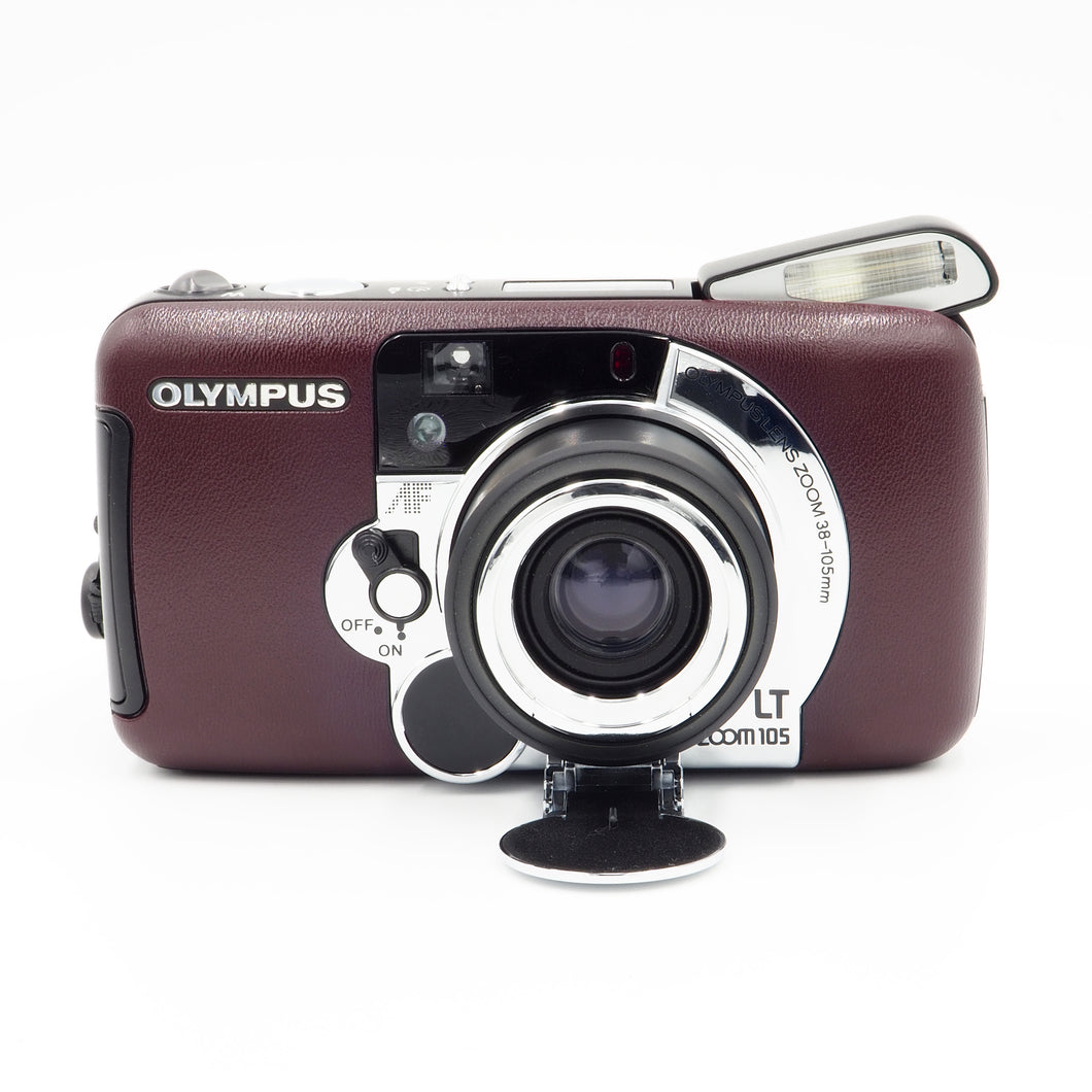 Olympus LT Zoom 105 Burgundy 35mm 38-105 All Weather Camera - USED