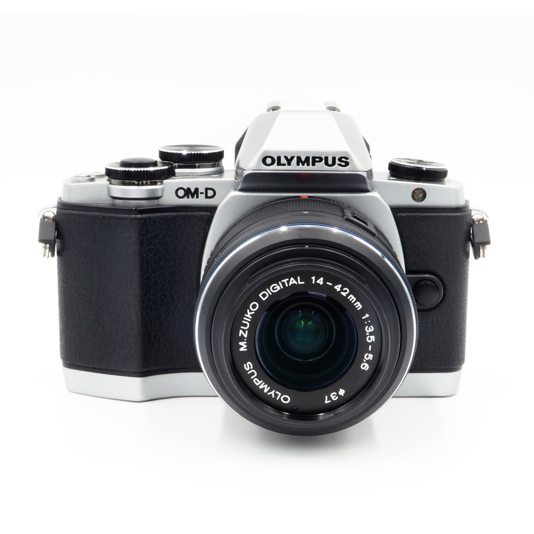 Olympus OM-D E-M10 - Silver - with Zuiko 14-42mm Lens - USED