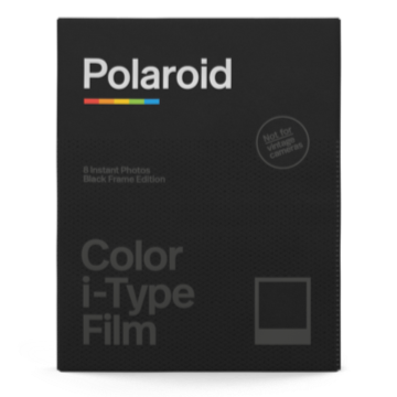Polaroid Color i-Type Instant Film - Black Frame Edition - 8 Exposures