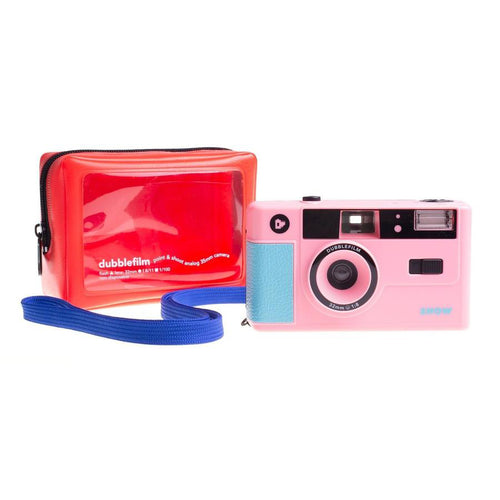 Dubblefilm SHOW Camera - 35mm reusable camera with flash - Pink