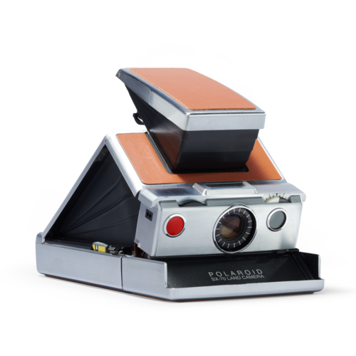 Polaroid SX-70 Instant Film Camera - Silver and Brown
