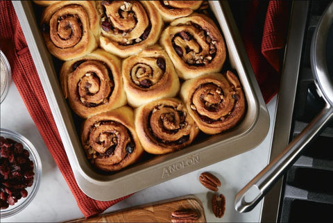cinnamon rolls with cranberry and pecan