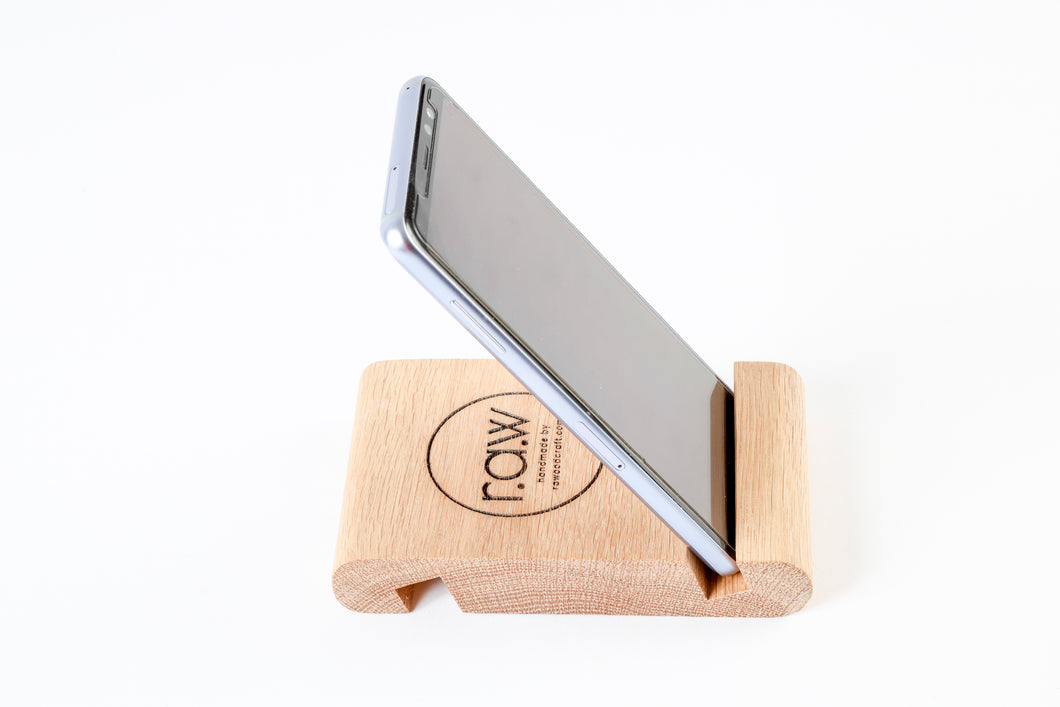 RAW Cell Phone/Tablet Holder - Oak