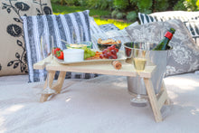 Load image into Gallery viewer, RAW Picnic Table - Birch Plywood with ice bucket cut-out
